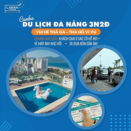 Combo du lịch Đà Nẵng 3N2Đ: Vé máy bay khứ hồi - Khách sạn 3 sao hồ bơi - Xe đón sân bay