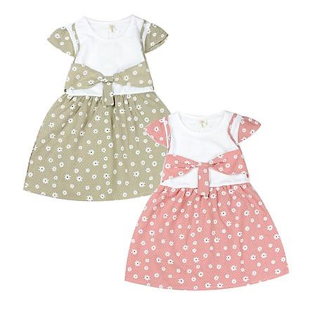 Combo 2 đầm bông Quảng Châu cho bé gái 01446-01447