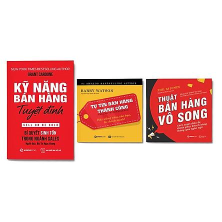Combo 3 cuốn: Kỹ năng bán hàng tuyệt đỉnh + Thuật bán hàng vô song + Tự tin bán hàng thành công