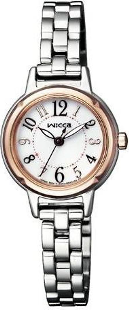 Đồng hồ đeo tay năng lượng mặt trời kiểu công chúa wicca CITIZEN KP3-619-11