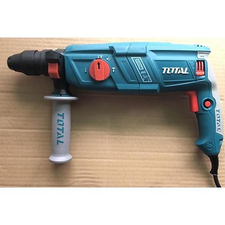 Máy khoan đục 3 chức năng Total 800W TH308266-2 có đảo chiều + 1 đầu khoan thay thế
