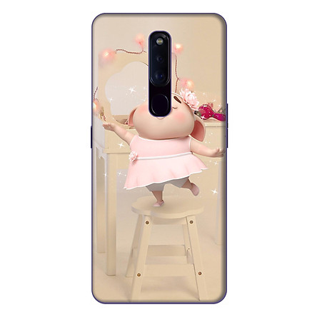 Ốp lưng điện thoại Oppo F11 Pro hình Heo Con Mặc Váy - Hàng chính hãng
