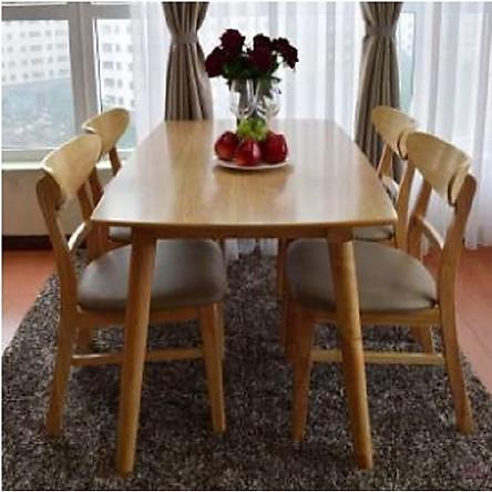 Bộ bàn ăn màu tự nhiên 4 ghế