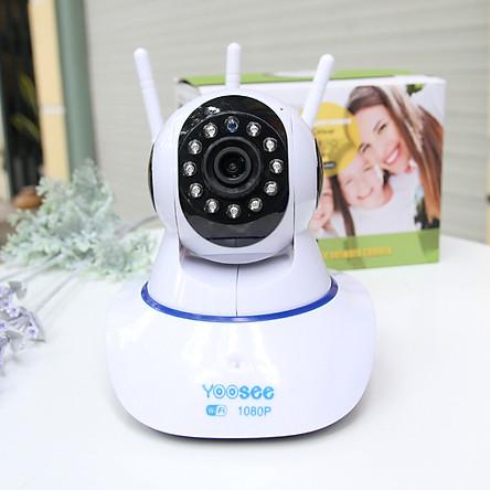 Camera wifi trong nhà Yoosee  Z02T 2.0 Full HD, 3 râu, xoay 360 độ , tương tác 2 chiều, hỗ trợ thẻ nhớ lên đến 128G, cảnh báo chuyển động – Hàng nhập khẩu