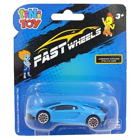 Đồ Chơi Xe Tốc Độ FastWheels 3 Inch - 342000S - Lamborghini Aventador LP700 4 SV Coupe - Màu Xanh