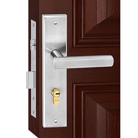 Ổ khoá cửa tay gạt Việt Tiệp 04824 làm từ inox sus 304 màu trắng được dùng cho các loại cửa chính làm từ gỗ, nhôm, nhựa lõi thép....