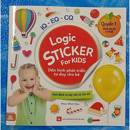 Logic Sticker for kids - Dán hình phát triển tư duy cho bé - quyển 1