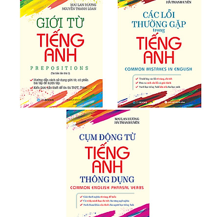 Combo Sách Tiếng Anh Mai Lan Hương (Giới Từ Tiếng Anh, Cụm Động Từ Tiếng Anh Thông Dụng, Các Lỗi Thường Gặp Trong Tiếng Anh)