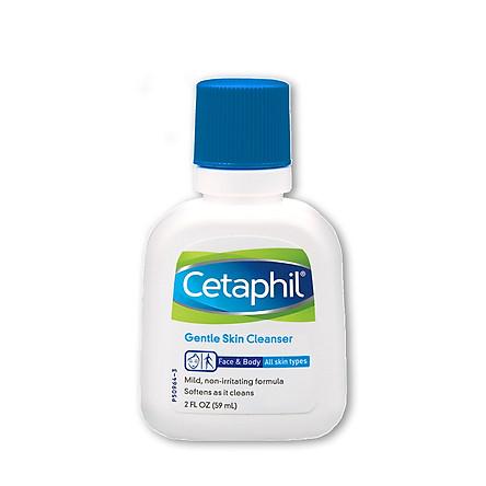 Sữa rửa mặt Cetaphil Gentle Skin Cleanser 59ml dịu nhẹ cho mọi loại da