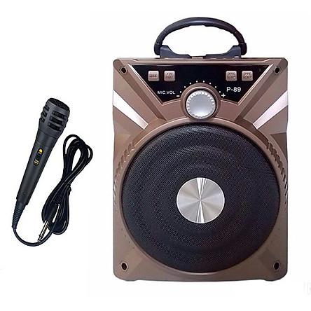 Loa Bluetooth P88/P89 kèm mic màu ngẫu nhiên - Hàng nhập khẩu