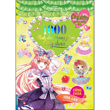 Công Chúa Vương Quốc Hoa - 1000 Hình Dán Trang Phục Công Chúa - Công Chúa Hoa Lan