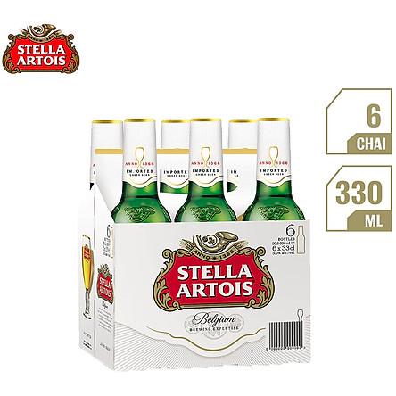 Lốc 6 Chai Bia Stella Artois (330ml / Chai)
