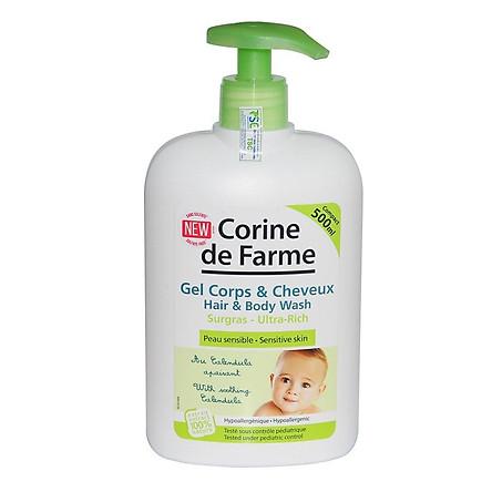 Gel tắm gội cho bé Ultra - Rich Hair & Body Wash - Corine de Farme (500ml)