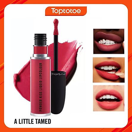 Son Kem Mac Powder Kiss Liquid Lipcolour 988 A Little Tamed - Hồng Đào