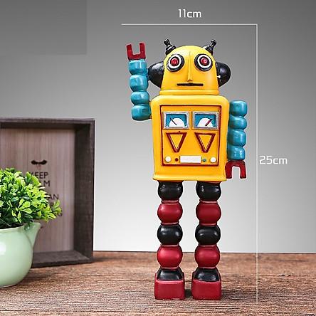 Mô hình robot decor trang trí loại lớn , màu sắc bắt mắt dùng để làm quà tặng hoặc trang trí nhà cửa không khí vui tươi