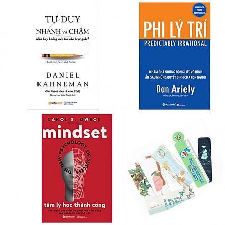 Combo tư duy nhanh và chậm +phi lý trí +tâm lý học thành công (bản đặc biệt tặng kèm bookmark AHA)