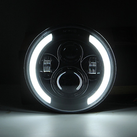 1pc 7 Inch Round Shaped LED Front Headlight Replacement For Jeep Wrangler JK LJ TJ CJ