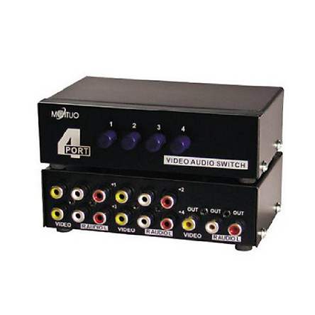 Bộ chuyển mạch tín hiệu AV (Video & Audio) 4 ra 1 cổng MT-431AV chính hãng MT-VIKI