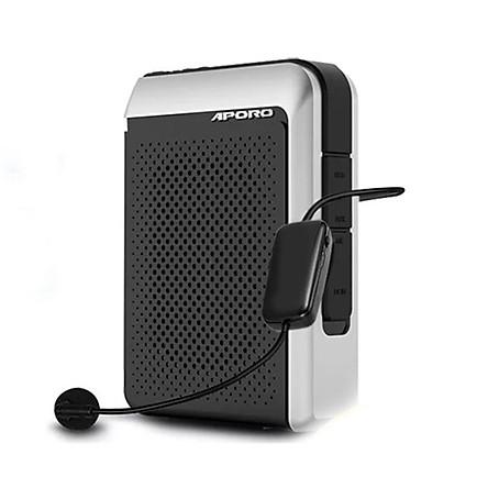 Máy trợ giảng không dây Aporo T18 FM kèm túi đựng , micro có dây cài ve áo, ( hàng nhập khẩu )