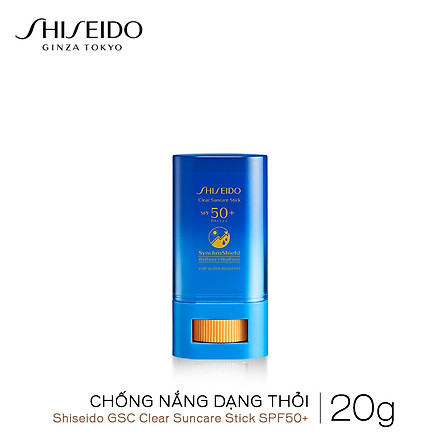 Chống nắng dạng thỏi Shiseido GSC Clear Suncare Stick SPF50+ 20G