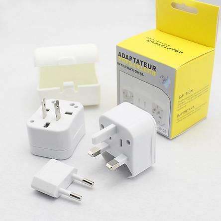 Ổ cắm điện quốc tế đa năng V1 ( Tặng kèm 02 nút kẹp cao su giữ dây điện )