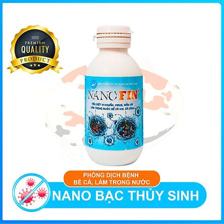 Nano bạc thủy sinh Fin+ Làm sạch bể cá, diệt khuẩn phòng bệnh cá Cảnh, cá Koi