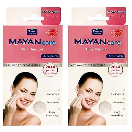 Combo 2 Miếng Dán hỗ trợ điều trị Mụn Mayancare 20 Miếng (0.8cm)