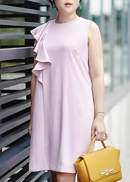 Đầm Gile Bèo Lệch Vai Hồng May's House Designer