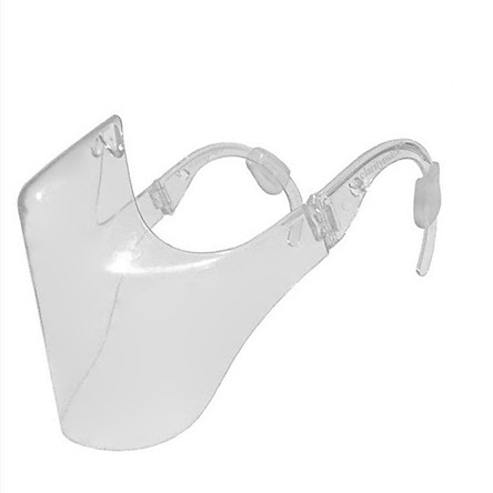 Transparent Face Mask for Adults Clear Mask Shiled Durable Mouth Shield Plastic Protective Masks for Indoor Outdoor Use