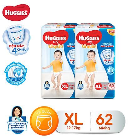 Combo 2 tã quần Huggies Pants Super Jumbo XL62