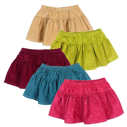 Chân váy nhung midi siêu dễ thương cho bé gái 0.5-7 tuổi từ 8 đến 24 kg 05313-05317
