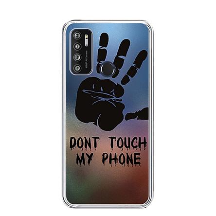 Ốp lưng dẻo cho điện thoại VSMART LIVE 4 - 0292 DONTTOUCHMYPHONE - Hàng Chính Hãng