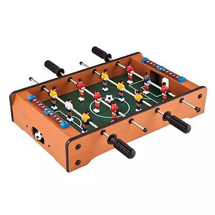 Bàn bi lắc đá bóng bằng gỗ loại 4 hàng - Trò chơi nhóm náo nhiệt vui nhộn dành cho mọi đối tượng Vui cùng tuyển thủ - tặng kèm Kẹp Gỗ Nhỏ Nhiều Hình Xinh Xắn