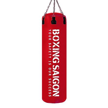 Bao cát đấm bốc dây xích 1m2 Boxing Saigon đỏ - Tặng móc treo bao