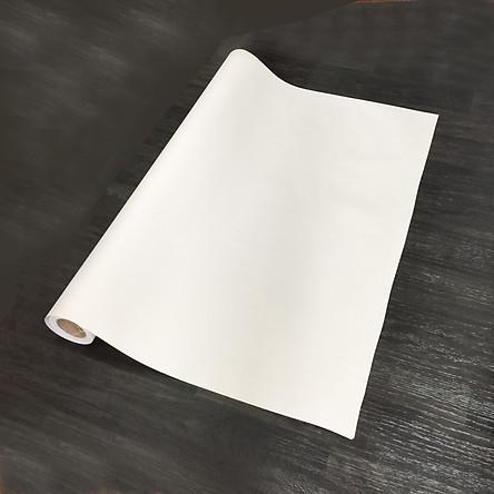 Giấy dán tường màu trắng nhám - màu be - khổ 1,2m - có sẵn keo