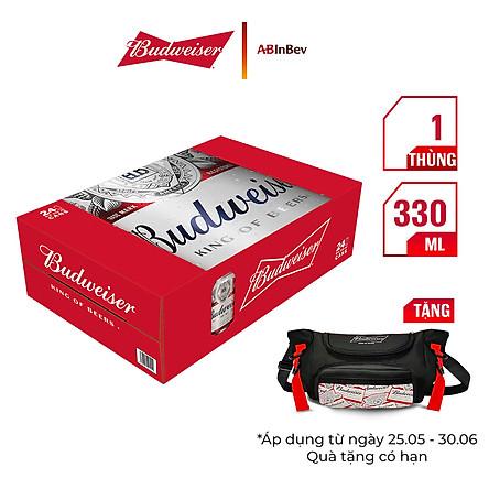 Thùng 24 Lon Bia Budweiser (330ml / Lon)