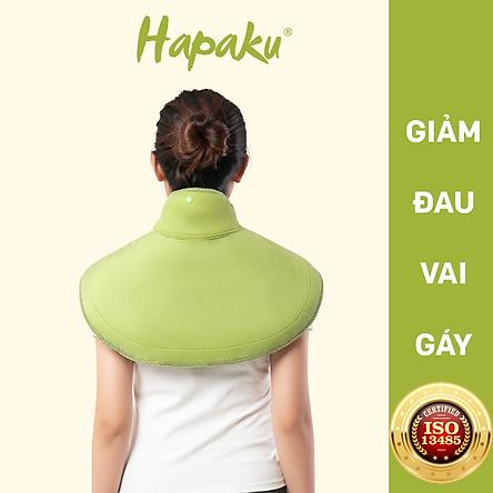 Bộ đai chườm nóng thảo dược giảm đau vai gáy dùng điện - Hapaku
