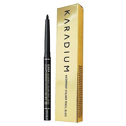 Chỉ Kẻ Mắt Chống Trôi Karadium Waterproof EyeLiner Pencil Black