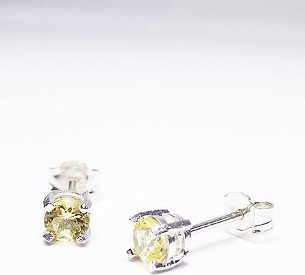 Bông tai bạc keely valda Nụ Xinh Xinh yellow