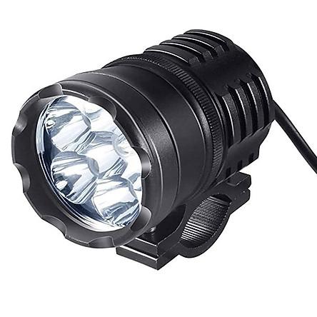 Motorcycle LED Headlight White Moto Fog Headlamp External Auxiliary Lamp