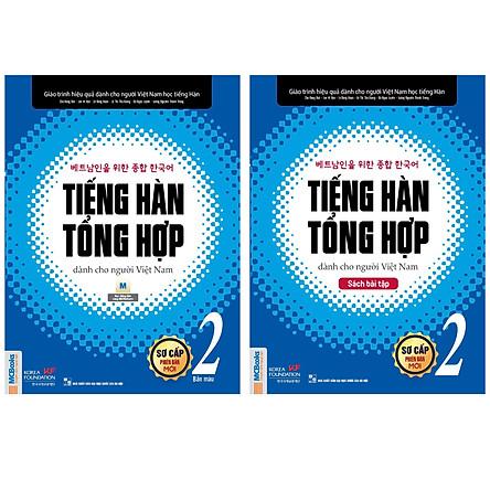 Combo Giáo Trình Tiếng Hàn Tổng Hợp Dành Cho Người Việt Nam: Gíao Trình Sơ Cấp 2 (Bản Màu) + Sách Bài Tập Sơ Cấp 2 (Bộ 2 Cuốn Nâng Cao Kỹ Năng Nghe - Nói - Đọc - Viết - Luyện Thi Nhanh Chóng / Tặng Kèm Bookmark Green Life)