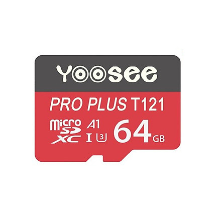 Thẻ nhớ microSDHC Yoosee Pro Plus 64GB A1 U3 4K R95MB/s W45MB/s (Đỏ) - chuyên camera và điện thoại - Hàng nhập khẩu