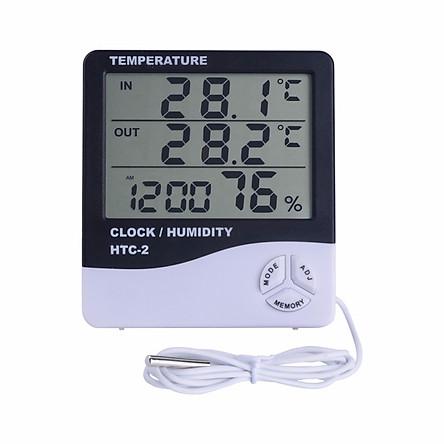 Máy đo nhiệt độ, độ ẩm độ chính xác cao HTC ver 2 - Tặng kèm pin AAA 1.5V