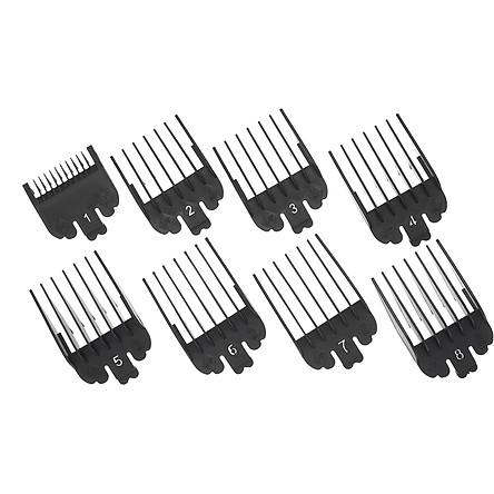 Bộ lược nhựa màu đen bảo vệ tông đơ cắt tóc