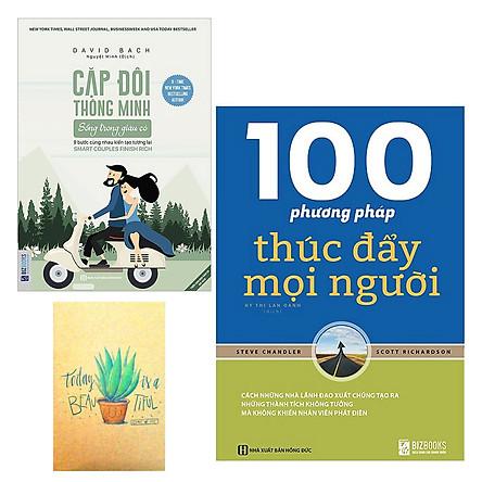 Combo 100 Phương Pháp Thúc Đẩy Mọi Người và Cặp Đôi Thông Minh Sống Trong Giàu Có - 9 Bước Cùng Nhau Kiến Tạo Tương Lai ( Tặng Kèm Sổ Tay Xương Rồng)