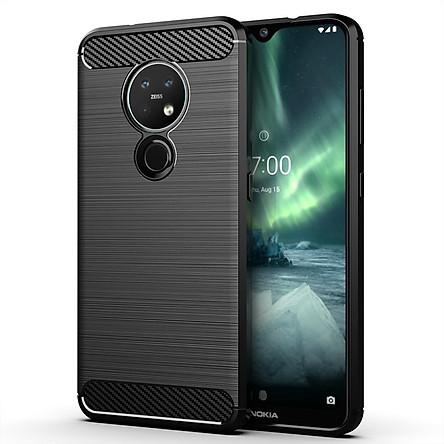 Ốp Lưng Dẻo Dành Cho Nokia 7.2 Vân Xước Chống Sốc-Handtown- Hàng Chính Hãng