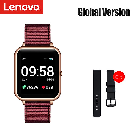 đồng hồ thông minh Global Version Lenovo S2 Smart Watch 1.4inch 240x240p Fitness Tracker Band Calorie Pedometer Sleep Monitor Heart Rate