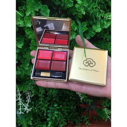 Bảng son 4 màu Whoo Luxury Lip Rouge 4 colors palette