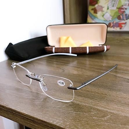 Kính lão thị viễn thị loại tốt kính mắt sáng rõ và không mỏi gọng khoan siêu nhẹ và sang trọng