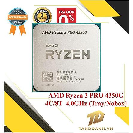 BỘ VI XỬ LÝ AMD Ryzen 3 PRO 4350G 4C/8T UPTO 4.0GHz (Tray/Nobox) -HÀNG CHÍNH HÃNG